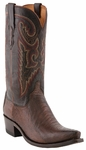 Lucchese Since 1883 De Soto Sienna Burnished Ostrich Leg Cowboy Boots M1616