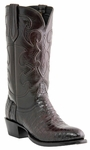 "Lucchese Men's ""Charles"" Black Cherry Belly Crocodile Cowboy Boots M1637"