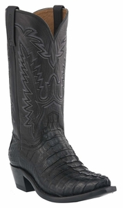 Mens Lucchese Since 1883 Black Caiman Tail Crocodile Cowboy Boots M2501