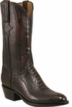 Mens Lucchese Classics Antique Cigar Ostrich Leg Custom Hand-Made Cowboy Boots L1380