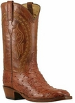 Mens Lucchese Classics Barnwood Full Quill Ostrich Custom Hand-Made Cowboy Boots L1385