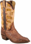 Mens Lucchese Classics Barnwood Mad Dog Pin Ostrich Custom Hand-Made Cowboy Boots L1359