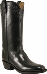 Mens Lucchese Classics Black Calf Custom Hand-Made Cowboy Boots L1640