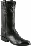Mens Lucchese Classics Black Calf with Louis Cord Custom Hand-Made Leather Boots L9501