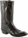 Mens Lucchese Classics Black Cherry Kangaroo Custom Hand-Made Leather Boots L1664