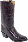 Mens Lucchese Classics Black Cherry Kangaroo Leather Custom Hand-Made Boots L1500