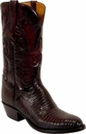 Mens Lucchese Classics Black Cherry Lizard Custom Hand-Made Boots L1207