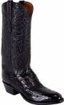 Mens Lucchese Classics Black Full Quill Ostrich Custom Hand-Made Boots L1169