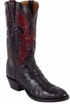 Mens Lucchese Classics Black Full Quill Ostrich Custom Hand-Made Boots L1178