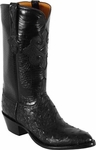 Mens Lucchese Classics Black Full Quill Ostrich Custom Hand-Made Boots L1189