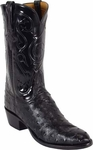 Mens Lucchese Classics Black Full Quill Ostrich Custom Hand-Made Boots L1193