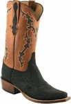 Mens Lucchese Classics Black Hippo Leather Custom Hand-Made Boots L1422