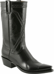 Mens Lucchese Classics Black Kangaroo Custom Hand-Made Leather Boots L1663