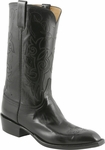 Mens Lucchese Classics Black Kangaroo Custom Hand-Made Leather Boots L1665