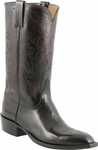 Mens Lucchese Classics Black Kangaroo Custom Hand-Made Leather Boots L1666