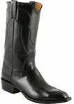 Mens Lucchese Classics Black Kangaroo Custom Hand-Made Leather Boots L1667