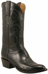 Mens Lucchese Classics Black Kangaroo Custom Hand-Made Leather Boots L1701