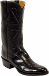 Mens Lucchese Classics Black Kangaroo Leather Custom Hand-Made Boots L1501