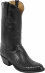 Mens Lucchese Classics Black Lizard Custom Hand-Made Boots L1219