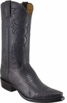 Mens Lucchese Classics Black Lizard Custom Hand-Made Cowboy Boots L1334