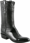 Mens Lucchese Classics Black Patent Calf Custom Hand-Made Leather Boots L9505