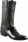 Mens Lucchese Classics Black Patent Calf with Louis Cord Custom Hand-Made Leather Boots L9504