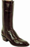 Mens Lucchese Classics Chocolate Glove Calf Welted Sole Custom Hand-Made Leather Boots L1524