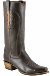 Mens Lucchese Classics Chocolate Glove Calf With Number Two Stitch Pattern Leather Custom Hand-Made Boots L1680