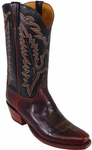 Mens Lucchese Classics Chocolate Oil Calf Leather Custom Hand-Made Boots L1588