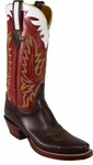 Mens Lucchese Classics Chocolate Oil Calf Leather Custom Hand-Made Boots L1591