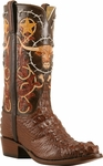Mens Lucchese Classics Cigar American Alligator Custom Hand-Made Cowboy Boots L1406