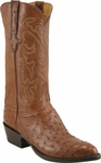 Mens Lucchese Classics Cigar Full Quill Ostrich Custom Hand-Made Boots L1166