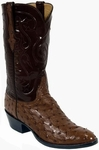 Mens Lucchese Classics Cigar Full Quill Ostrich Custom Hand-Made Leather Boots L1222