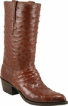 Mens Lucchese Classics Cigar Full Quill Ostrich Top & Bottom Custom Hand-Made Boots L1162