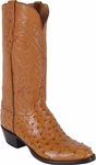 Mens Lucchese Classics Cognac Full Quill Ostrich Custom Hand-Made Boots L1167