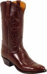Mens Lucchese Classics Cruz Cord Chocolate European Calf Leather Custom Hand-Made Boots L1534