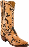 Mens Lucchese Classics Hand Tooled Leather Custom Hand-Made Cowboy Boots L1320
