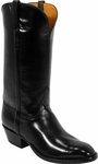 Mens Lucchese Classics Madison Avenue Black European Calf Leather Custom Hand-Made Boots L1528