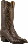 Mens Lucchese Classics Nicotine Burnished Full Quill Ostrich Custom Hand-Made Cowboy Boots L1383