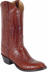 Mens Lucchese Classics Peanut American Alligator Belly Top & Bottom Custom Hand-Made Boots L1123