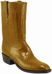 Mens Lucchese Classics Peanut Brittle American Alligator Bias Cut Custom Hand-Made Leather Boots L1069