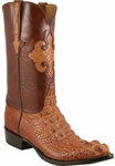 Mens Lucchese Classics Peanut Brittle American Alligator Head Mission Inlay Custom Hand-Made Boots L1015