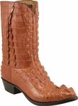Mens Lucchese Classics Peanut Brittle American Alligator Top & Bottom Custom Hand-Made Boots L1003