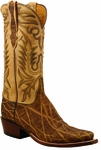 Mens Lucchese Classics Peat African Elephant Custom Hand-Made Cowboy Boots L1389
