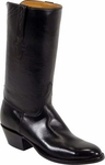 Mens Lucchese Classics Regal Black European Calf Leather Custom Hand-Made Boots L1525