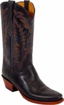 Mens Lucchese Classics Rio Bravo Black Oil Calf Leather Custom Hand-Made Boots L1567
