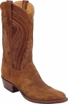 Mens Lucchese Classics Rust Suede Leather Custom Hand-Made Boots L1574