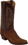 Mens Lucchese Classics Rust Suede Leather Custom Hand-Made Boots L1575