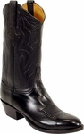 Mens Lucchese Classics Signature Cord Black Glove Calf Leather Custom Hand-Made Boots L1550
