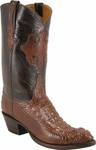Mens Lucchese Classics Sport Rust American Alligator Head Mission Inlay Custom Hand-Made Boots L1014